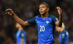 Kylian Mbappé endured a tough evening against Luxembourg on Sunday.