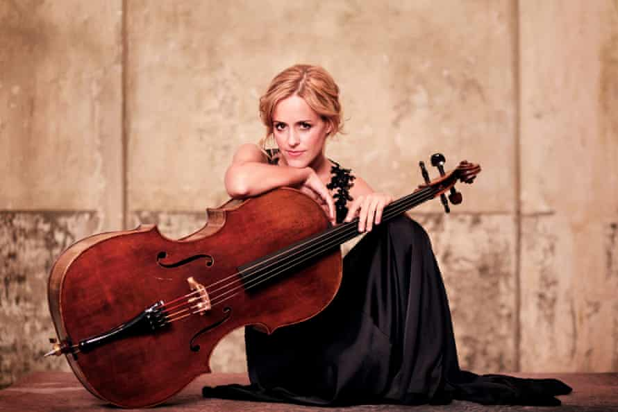 Sol Gabetta with one of her beloved instruments.