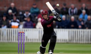 Tom Banton plays a shot on his way to 112 at New Road.