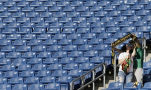 While some games have been sell-outs, there have also been examples of empty banks of seats at this year's tournament.