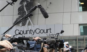 Media outside the Melbourne court
