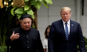Donald Trump and North Korea's leader Kim Jong Un met in February during the second North Korea-US summit.