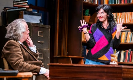 Stephen Tompkinson (Frank) and Jessica Johnson (Rita) in Educating Rita by Willy Russell