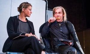 Genevieve Barr (Eva) and Jonjo O'Neill (The Brute) in Unreachable