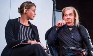Genevieve Barr with Jonjo O'Neill in Unreachable at the Royal Court.