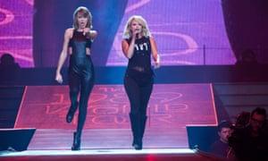 Miranda Lambert joins Taylor Swift on stage in North Carolina last year, during Swift's world tour.