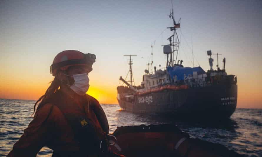The rescue boat Alan Kurdi, operated by the German NGO Sea Eye.