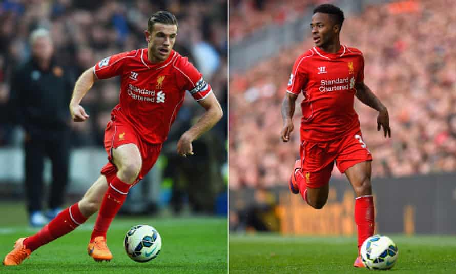 Jordan Henderson, left, is likely to replace Steven Gerrard as Liverpool captain, but should the armband go to Raheem Sterling instead?
