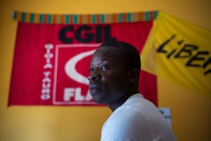 Atta Jacob made his way out of an Italian migrant camp two years ago, after leaving Ghana in 2008