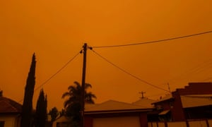 Burnt gold: the view in North Albury on 5 January, 2020