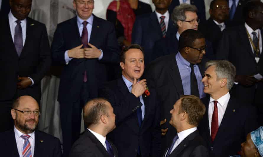 David Cameron at last week's migration summit