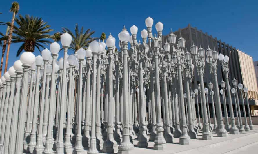 Chris Burden's Urban Light installation in Los Angeles.
