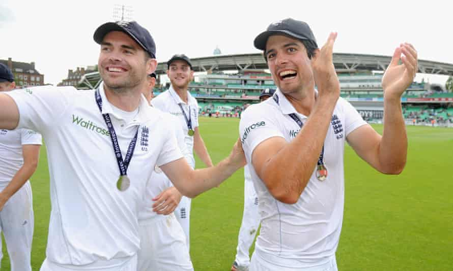 England Jimmy Anderson and Alastair Cook
