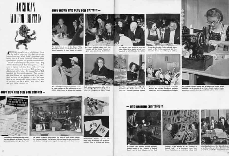 A feature on American aid for Britain, Vogue January 1941.