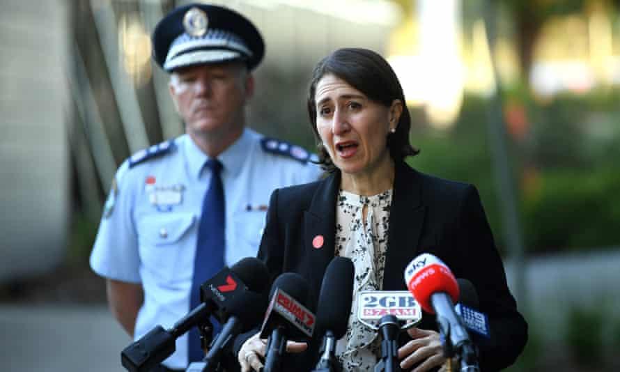 NSW premier Gladys Berejiklian with police commissioner Mick Fuller