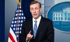 Jake Sullivan at the White House press briefing on August 23.