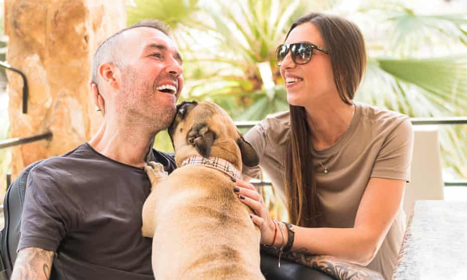 Fernando Ricksen, pictured in 2018 in Spain with his wife, Veronika. 'I'm not afraid of dying,' he says. 'But when I can't breathe because of the MND, I feel scared.'