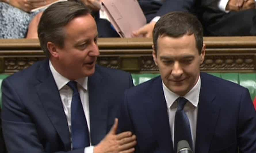 David Cameron and George Osborne working in tandem.