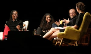 Colson Whitehead, Mona Chalabi, George Saunders and Julia Turner at the Sydney writers festival
