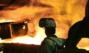 The ThyssenKrupp steel mill in Duisberg