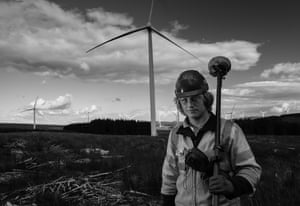Tom Birbidge, an apprentice engineer for Jones-Bros, who have contracts on windfarms
