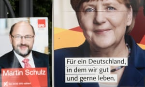 German parties' campaign posters.