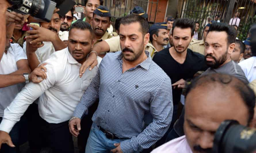 Salman Khan walks free from the high court in Mumbai