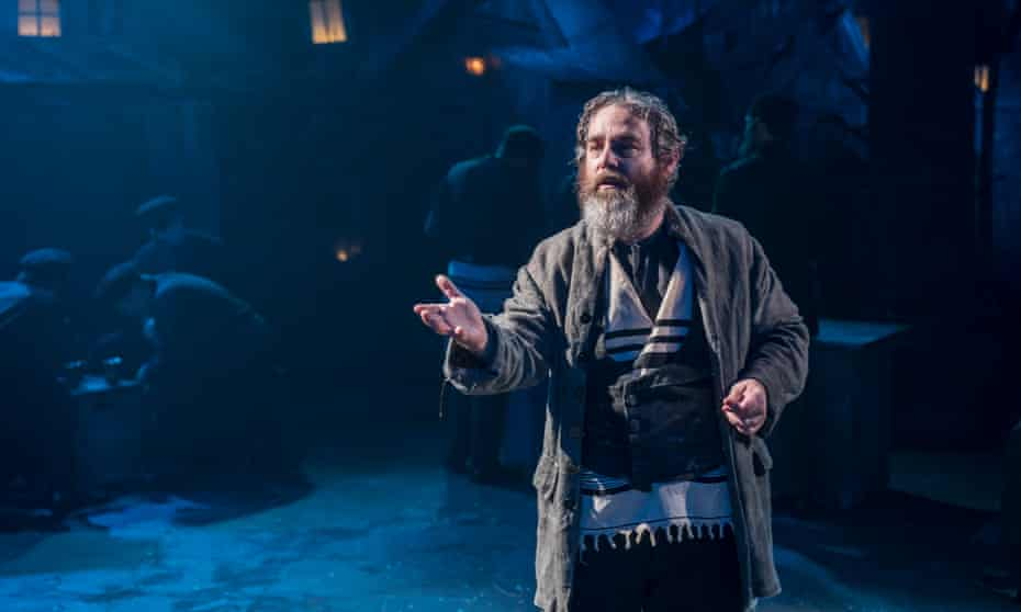 Cruelly topical … Andy Nyman as Tevye at the Menier Chocolate Factory, London.