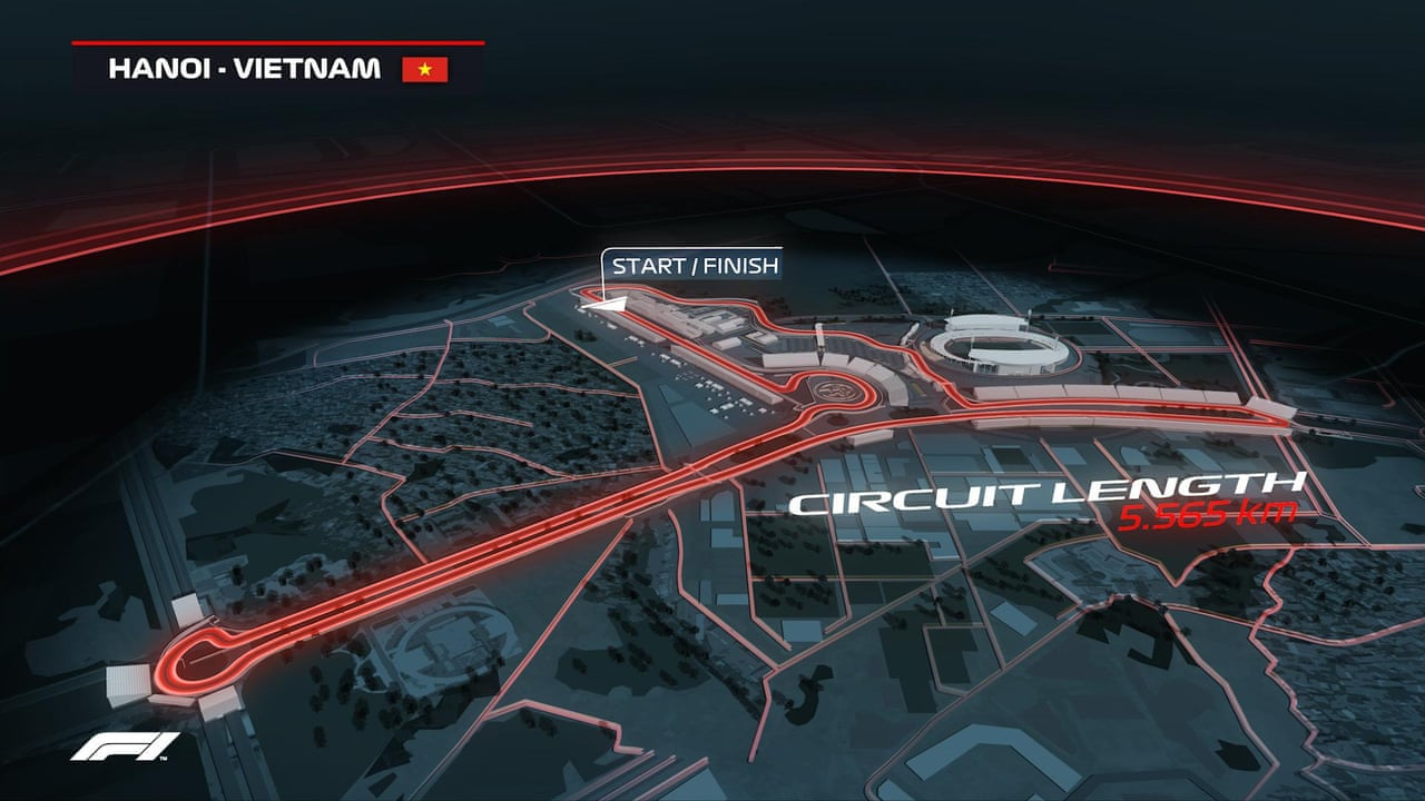Vietnam GP: F1 reveals track map for Hanoi street race in 2020. Image: video | Sport | The Guardian