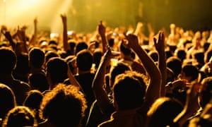 Music festival crowd.