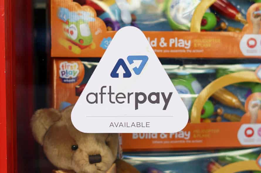 An Afterpay logo is on display in a Sydney store.