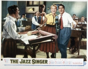Peggy Lee and Danny Thomas in a poster for the 1952 film The Jazz Singer