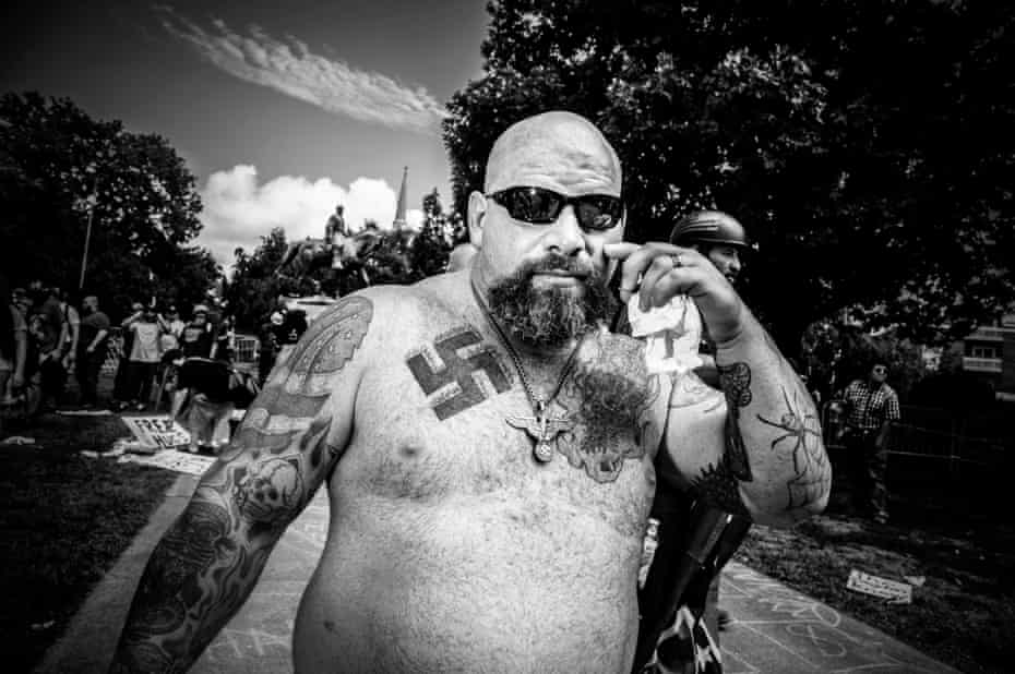 On the march … Charlottesville August 2017 - taken by Mark Peterson and shown in the On Whiteness exhibition.