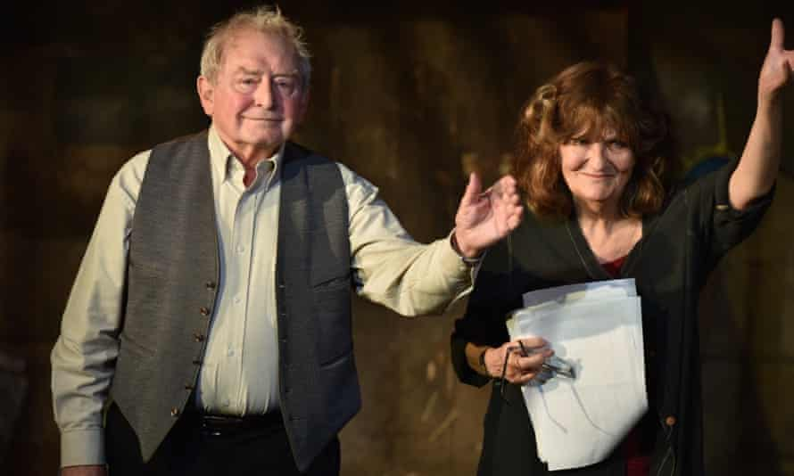 Take a bow … Alison King and Peter Gordon on stage.