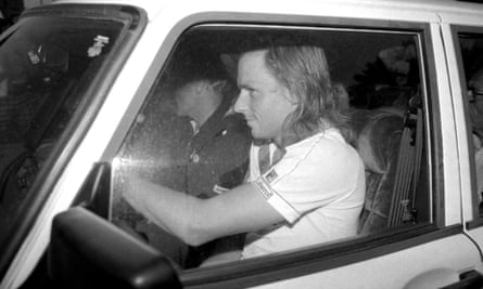 Bjorn Borg gets ready to drive away after losing to John McEnroe at the 1981 US Open.