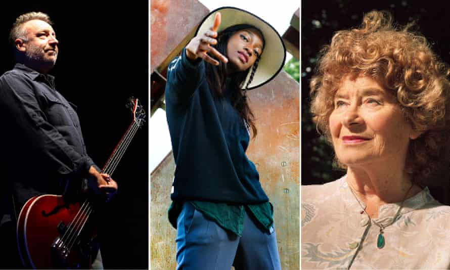 Musical forecasters … from left, Peter Hook, Little Simz and Shirley Collins.