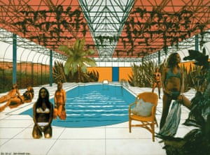 Swimming Pool Enclosure for Rod Stewart, 1972 by Ron Herron