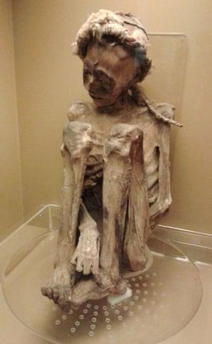 Chilean mummy at the Museu Nacional in Rio.