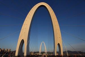 Beijing, China: The New Shougang Bridge