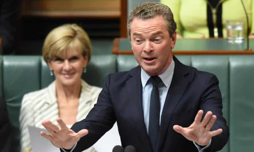 Christopher Pyne at question time. 'Great reform takes time,' he said after the Senate vote.