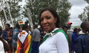 Teclar Mazanhi. 'We are making history today. We want new Zimbabwe.'