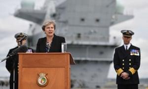 HMS Queen Elizabeth in Portsmouth.