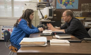 Hailee Steinfeld and Woody Harrelson in The Edge of Seventeen.