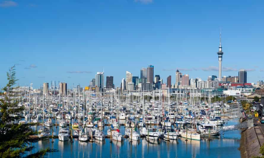 Westhaven Marina & City Skyline, Auckland, North Island, New Zealand