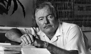 Ernest Hemingway in his office, 1952.