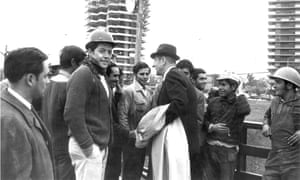 Chile's president Eduardo Frei Montalva meets Santiago construction workers in the mid-1960s.