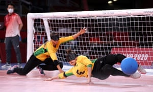 Monzia de Lima of Brazil makes a save during the Women's Preliminary Round Group match against the USA.