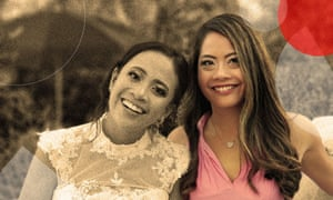 Toth's sister and her at the wedding