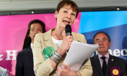Caroline Lucas, co-leader of the Green party