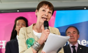 Caroline Lucas on the campaign trail before the 2017 election.